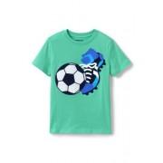 Lands' End Kurzarm-Grafik-Shirt mit Motiv-Applikation für kleine Jungen - Muster - 98/104 von Lands' End
