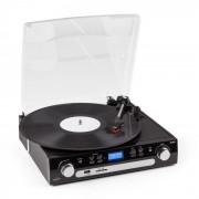 Retro05 Sistema Audio Giradischi USB SD AUX Cassette