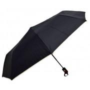 Umbrela Pliabila ICONIC Automata, Neagra cu margini bej,