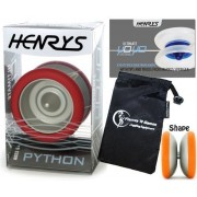 Henrys YoYo's Henrys PYTHON Pro YoYo Metal Professional String Trick Bearing YoYo +Instructional Booklet of Tricks & Travel Bag! Top Of The Range YoYo! Pro YoYos For Kids and Adults.