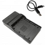 ismartdigi fd1 cargador de bateria de la camara Micro USB para Olympus - negro