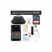 64GB Kit De Accesorios Para Nikon Coolpix B500, L840, L830, L820, L340, L330, Cámara Digital Incluye