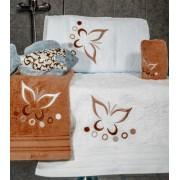 Set de 6 prosoape baie Valentini Bianco Brick