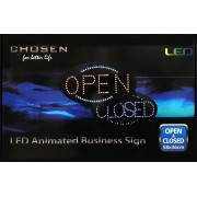 CHOSEN Big Open & Closed LED Neon Animated Business Shop/Restaurant/Store Sign