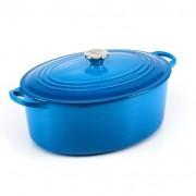 Le Creuset Panela Oval com Pegador de Aço Inox 31 cm Azul Marseille