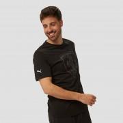 PUMA Scuderia ferrari big shield shirt zwart heren Heren - zwart - Size: Large