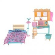 IJARP 1:6 Dolls Furniture Playkit Bedroom Bed Shelf Playset for Barbie Doll Toys