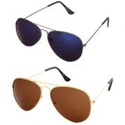 Magjons Aviator Sunglasses Combo Set of 2 With box MJ7735