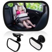 Espejo retrovisor para auto 2 en 1 seguridad bebe