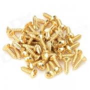 Tornillos del tablero de la guardia de la guitarra electrica - de oro (50 PCS)