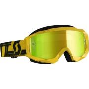 Scott Hustle X Chrome Motokrosové brýle Jedna velikost Černá žlutá