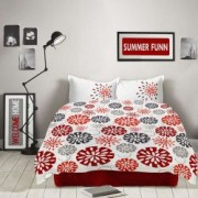 Lenjerie de pat Dormisete bumbac 100 RED FIESTA pentru pat 2 persoane 4 piese 200x220 / 50x70 cearceaf pat uni rosu Chilly Pepper
