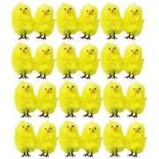 My Planet 20 X Mini Plush Yellow Chicks Easter Egg Hunt Bonnet Decoration Accessories