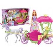 Barbie Dreamtopia Cu Trasura Sweetville Si Unicorn DYX31