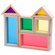 Wonderworld Rainbow Block Set Wood HOUT192409