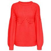 ONLY Pulover pentru femei ONLANELIA L/S PULLOVER KNT Fiery Red M