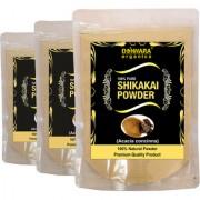 Donnara Organics 100% Natural Shikakai Powder Combo pack of 3 of 150 gms(450 gms)