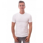Claesens T-Shirt Slim Fit - Two Pack - White ( CL 1020) - Wit - Size: Extra Large