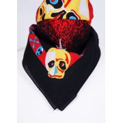 Bandana met multicolor skull motief