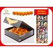 Himex Brands Dragon Ball Z Unisex Stars Acrylic Transparent Balls 7Pcs Set+ Stickers