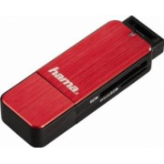 Cititor de carduri Hama USB 3.0 SD microSD Rosu
