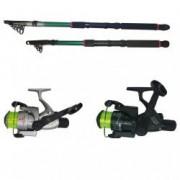 Set pescuit sportiv cu doua lansete eastshark de 2 4m si 3 6m si doua mulinete CB340 si CB440