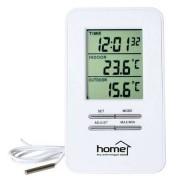 Statie meteo digitala HOME HC12 Interior si exterior Ceas cu alarma inclus Alb