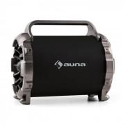 Auna Blaster M Altavoz con bluetooth portátil Efectos de luz LED AUX SD USB FM