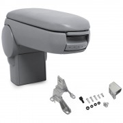 Подлакътник [pro.tec]® Golf IV / Bora / New Beetle с контейнер за съхранение, Еко кожа/Сив