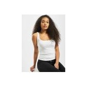 Urban Classics / top Ladies Wide Neck in wit - Dames - Wit - Grootte: Large