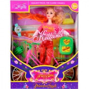 BuyerFan Spin N Ride Pups Barbie Doll Playset With Cycle