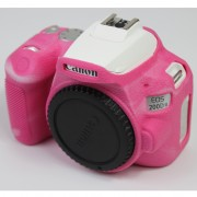 Soft Silicone Case Protector for Canon EOS 200D II Camera - Rose