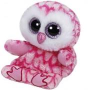 TY Peluche Owl with Glitter eyes Soporte para teléfono Milly 15cm