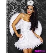 Costume angelo bianco con ali Kara