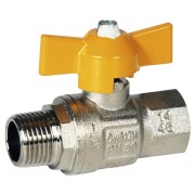 Robinet de gaz cu fluture, filet interior-exterior 3/8""
