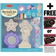 Mermaid Set Decorate-Your-Own Kit + FREE Melissa & Doug Scratch Art Mini-Pad Bundle [95440]
