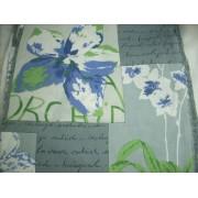 Orchideás, szürke kék virágos karton maradék 32x130cm/0015/Cikksz:1231153