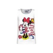 Disney Mouwloos Minnie Mouse t-shirt wit
