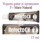 Vopsea Gene si Sprancene RefectoCil 15ml - 3 Maro Natural