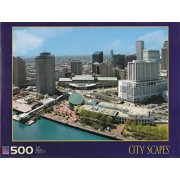City Scapes 500 Piece Jigsaw Puzzle: River Walk, New Orleans