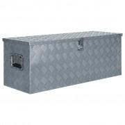 vidaXL Cutie din aluminiu, 110,5 x 38,5 x 40 cm, argintiu