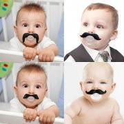 Mustache Pacifier Unique Baby Shower Gifts - Funny Pacifiers for Boys and Girls (Anna style)
