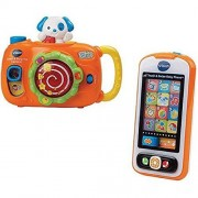 VTech Snap & Surprise Camera and Touch & Swipe Baby Phone Bundle Gift - Multi-color