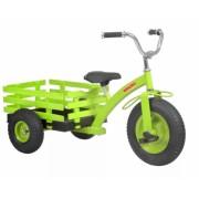 Tricicleta cu remorca Hecht verde, capacitate 50 kg
