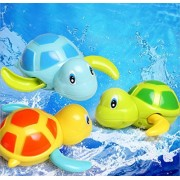Hot Sale Babies Swim Turtle Wound-up Chain Small Animal Baby Children Bath Toy Classic Toys Random Color 1 pcs