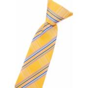 Chlapecká kravata žlutá s modrými proužky 558-1206
