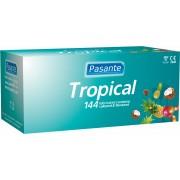 Preservativi aromatizzati Pasante Tropical Flavours 144 pezzi