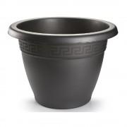 Forte Plastics 3x Antraciete plantenbakken/bloembakken rond 30 cm - Plantenpotten
