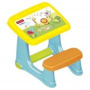 Masuta de studiu cu scaun confortabil, suport pentru picioare, 72 x 49 x 54 cm