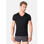 Giorgio Armani Pánské tričko 110810 9P719 00020 černá - Emporio Armani černá 2XL